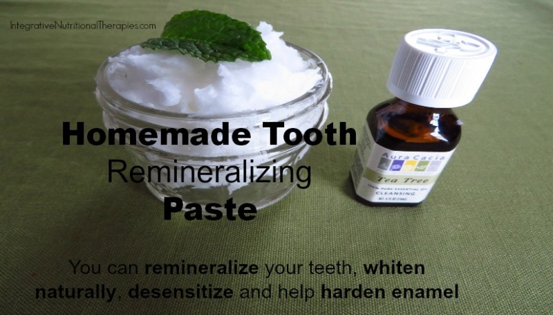 Homemade tooth remineralizing paste