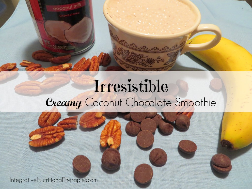 creamy coconut chocolate smoothie