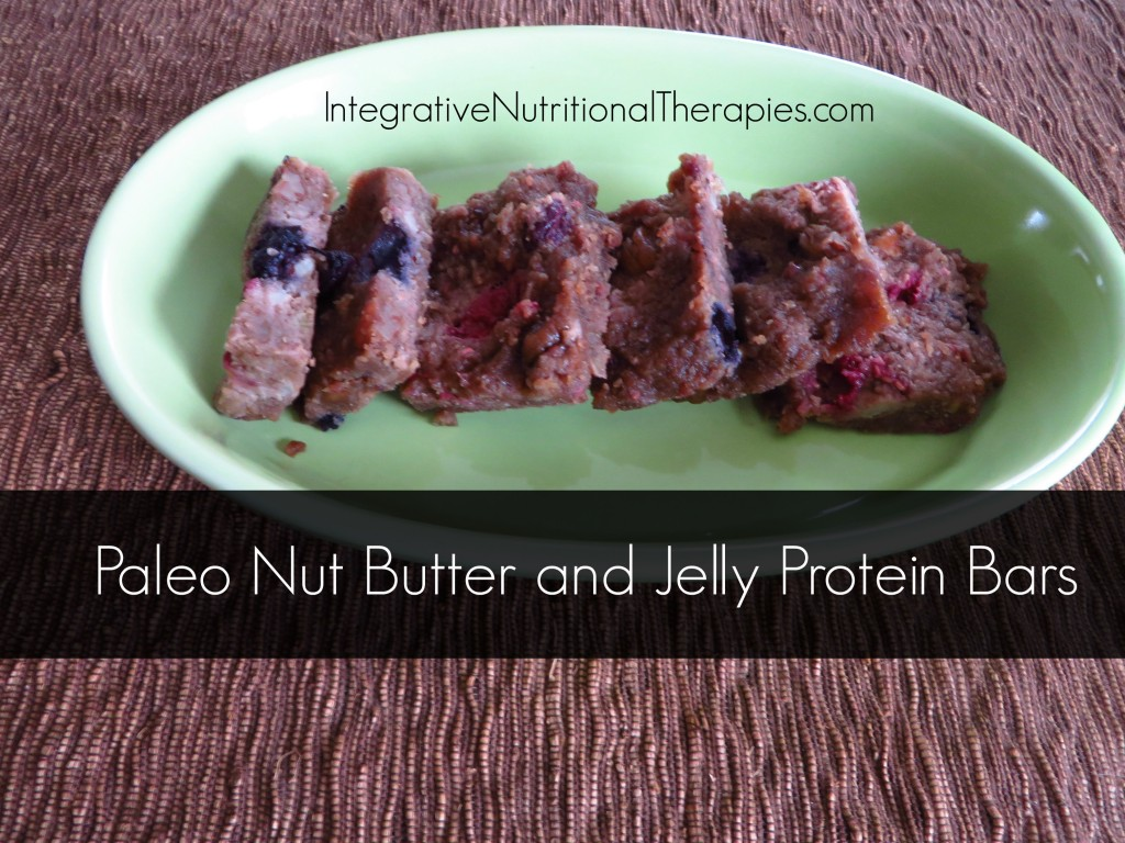 paleo nut butter and jelly bars