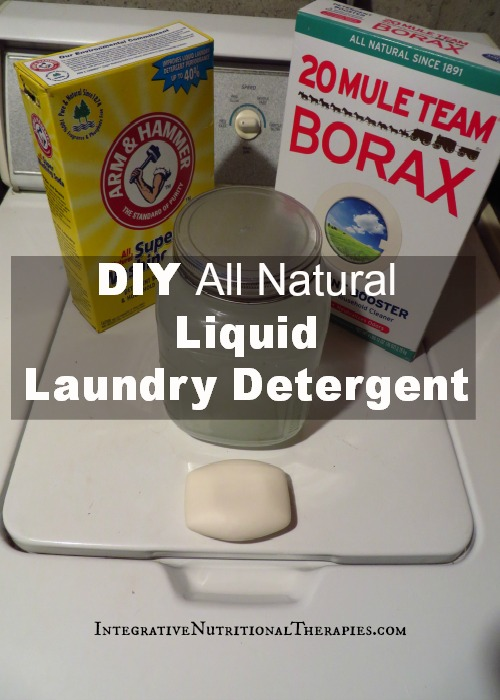 DIY All Natural Liquid Laundry Detergent