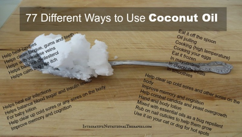 77 different ways to use coconut oil