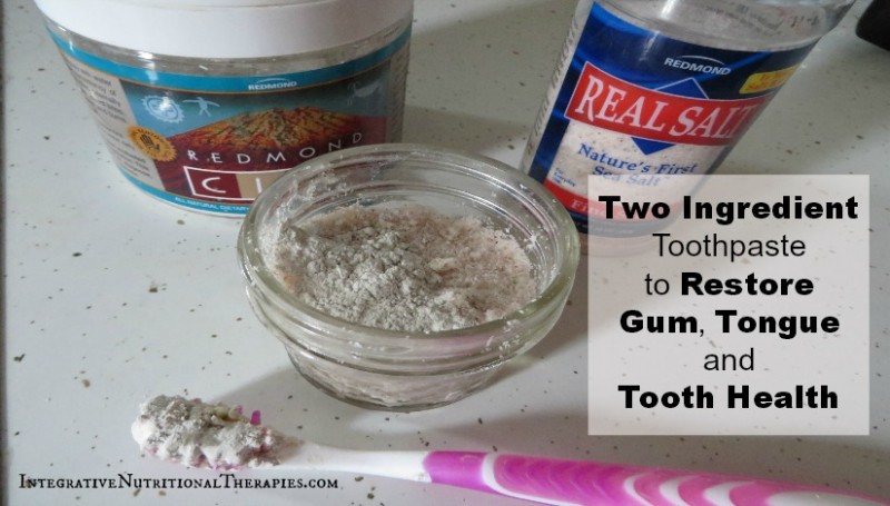 Two Ingredient Toothpaste to Restore Gum, Tongue and Tooth Health