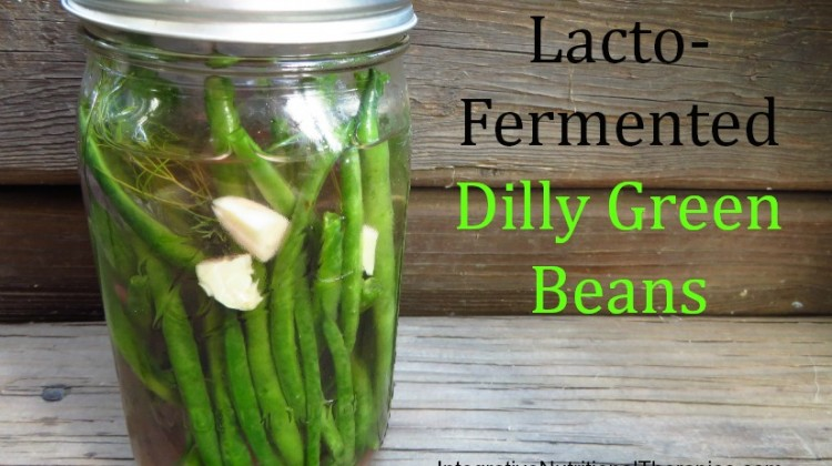 Lacto-Fermented Dilly Green Beans
