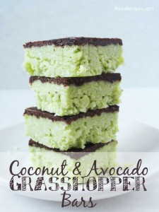 co avocado grasshopper bars