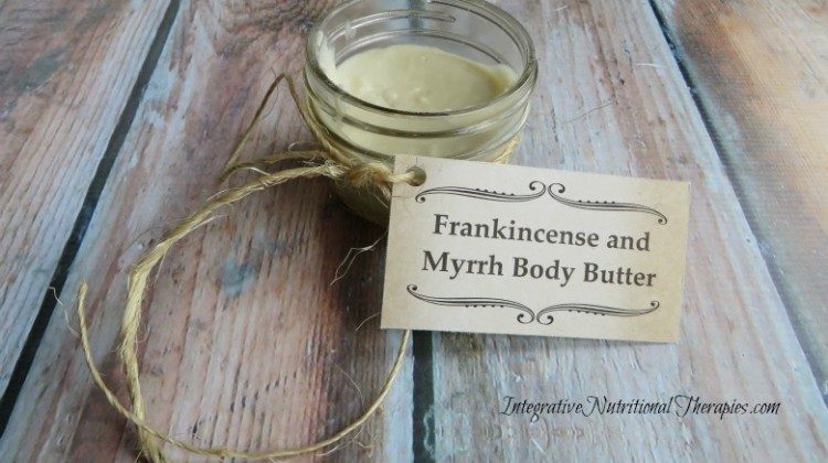 Homemade Frankincense and Myrrh Body Butter